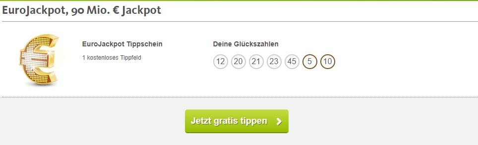 Lottoland gratis Eurojackpot Tipp