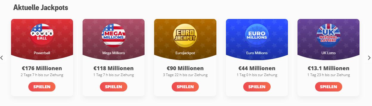 Megalotto Lotterien Countdown
