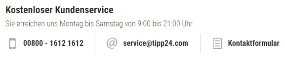 Tipp24 Kundenservice